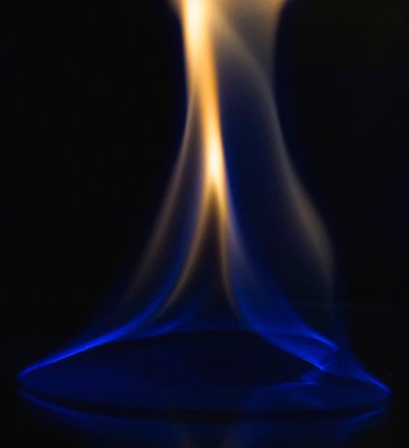 orange or yellow pilot light flame