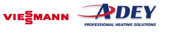 Viessmann Adey logos, boiler and installation