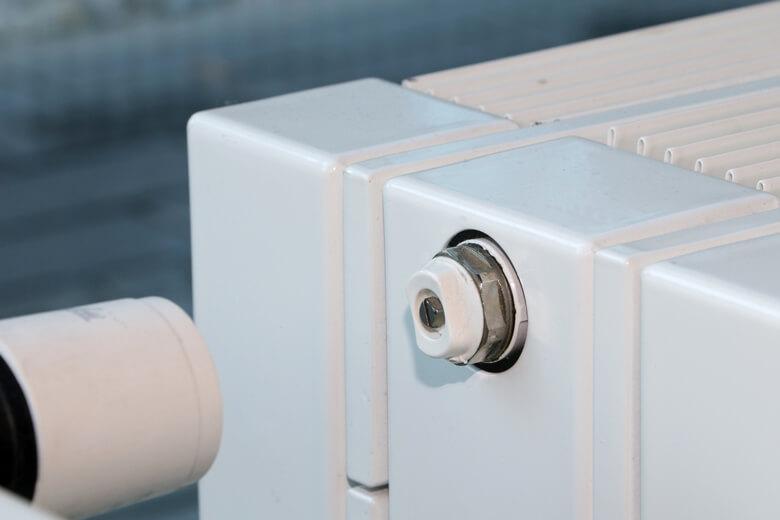 locate the radiator bleed valve