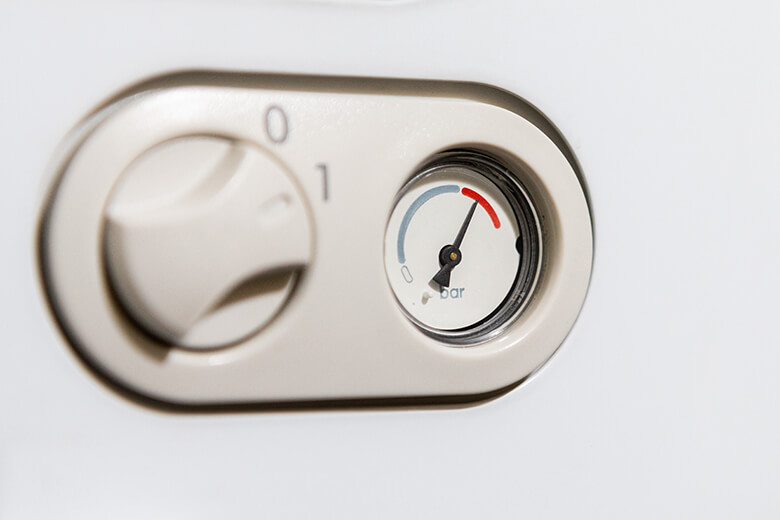 boiler pressure be when heating is on