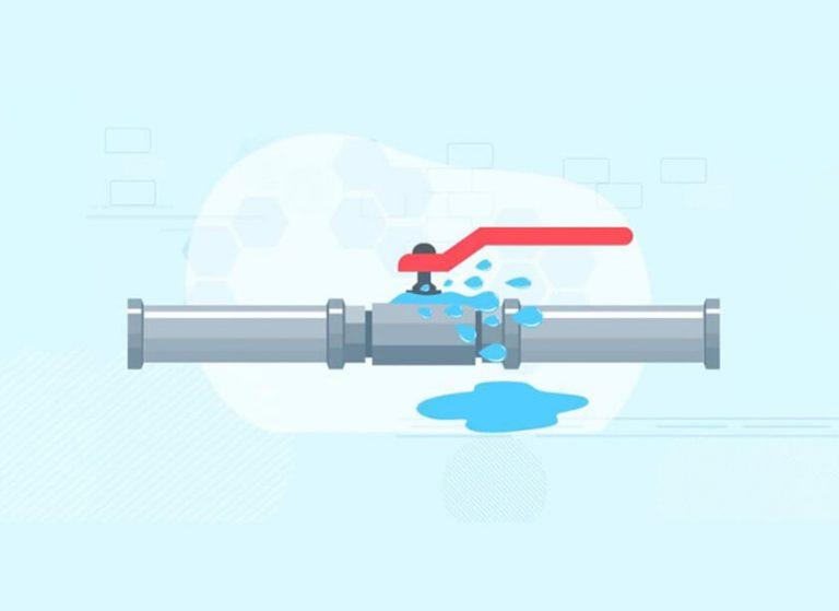 overflow pipe leaking